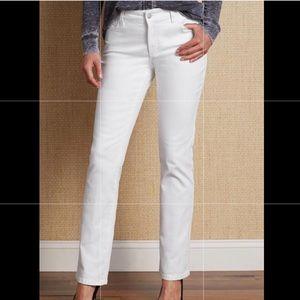 NYDJ white straight jeans
